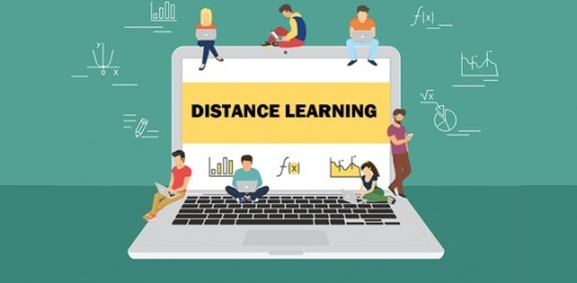 Decorative Graphic for Distance Learning