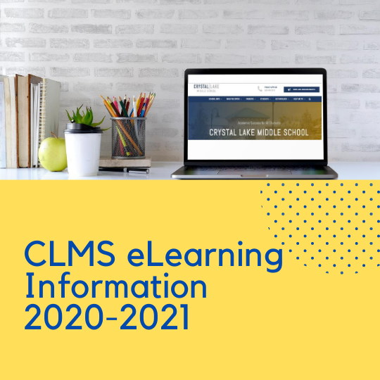 Crystal lake Middle School eLearning Information graphic